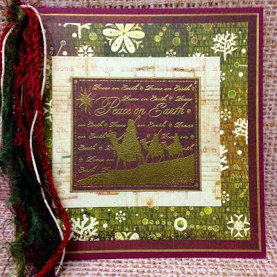 Embossed Wise Men Christmas Card | SewPaperPaint.blogspot.com