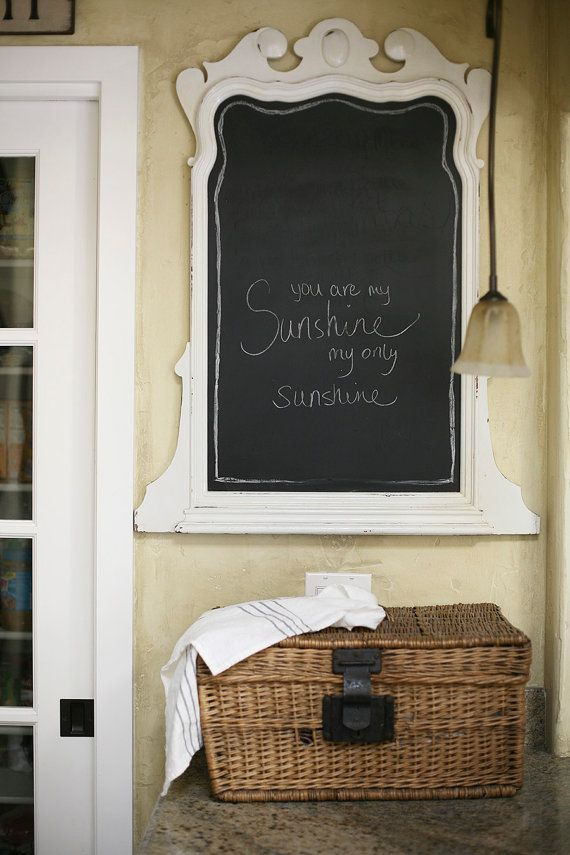 Vintage Mirror And Chalkboard Farmhouse Porch Likes