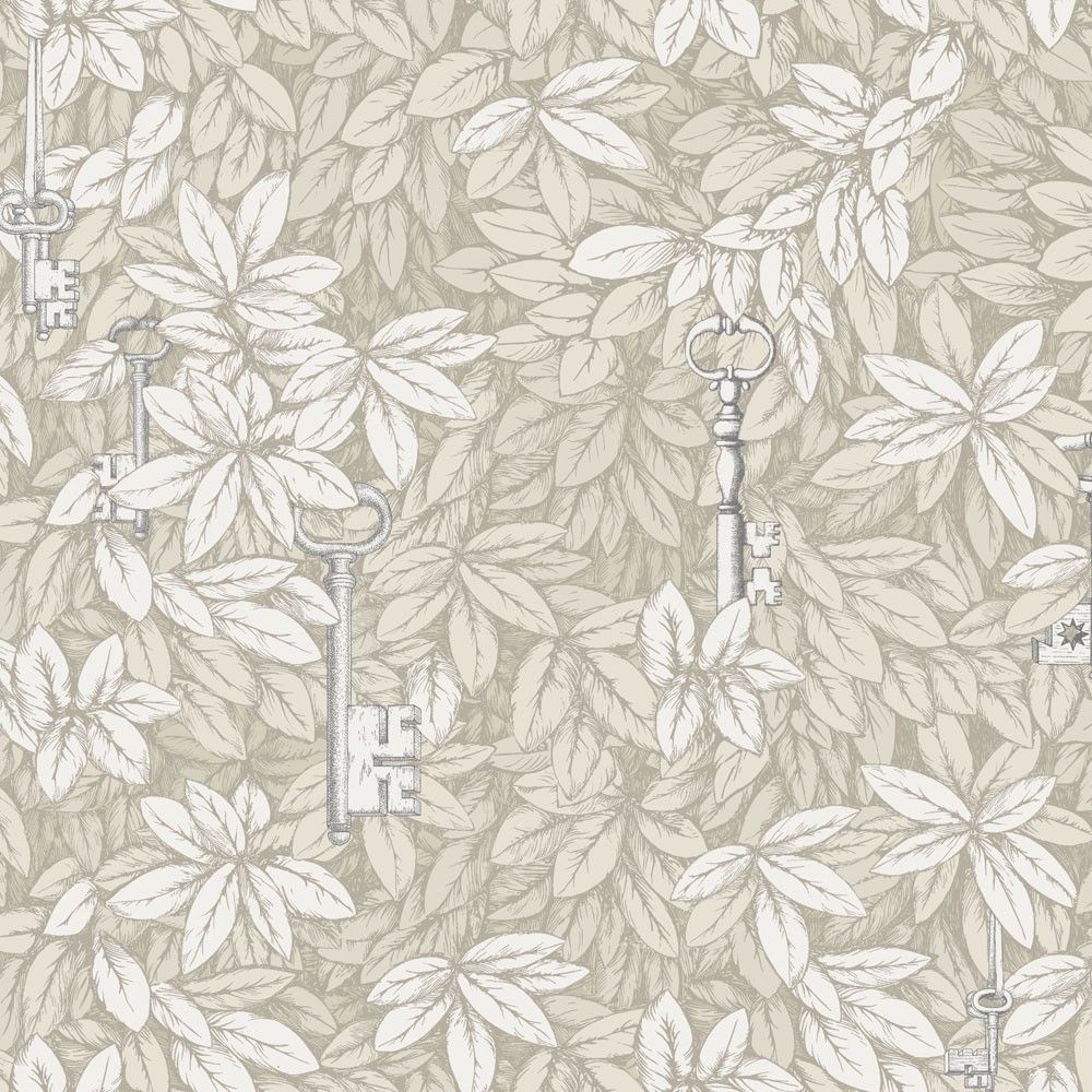 Fornasetti Ii Chiavi Segrete Wallpaper Houseology Gold And Silver Wallpaper Cole And Son Cole And Son Wallpaper