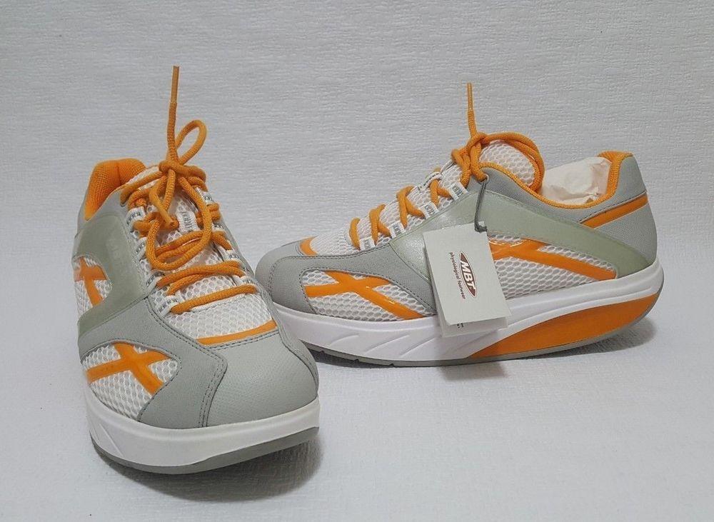 39922f7bba72 MBT Women s M. Walk Toning Walking Orange White Sneaker Shoes US 11 EUR  42.5