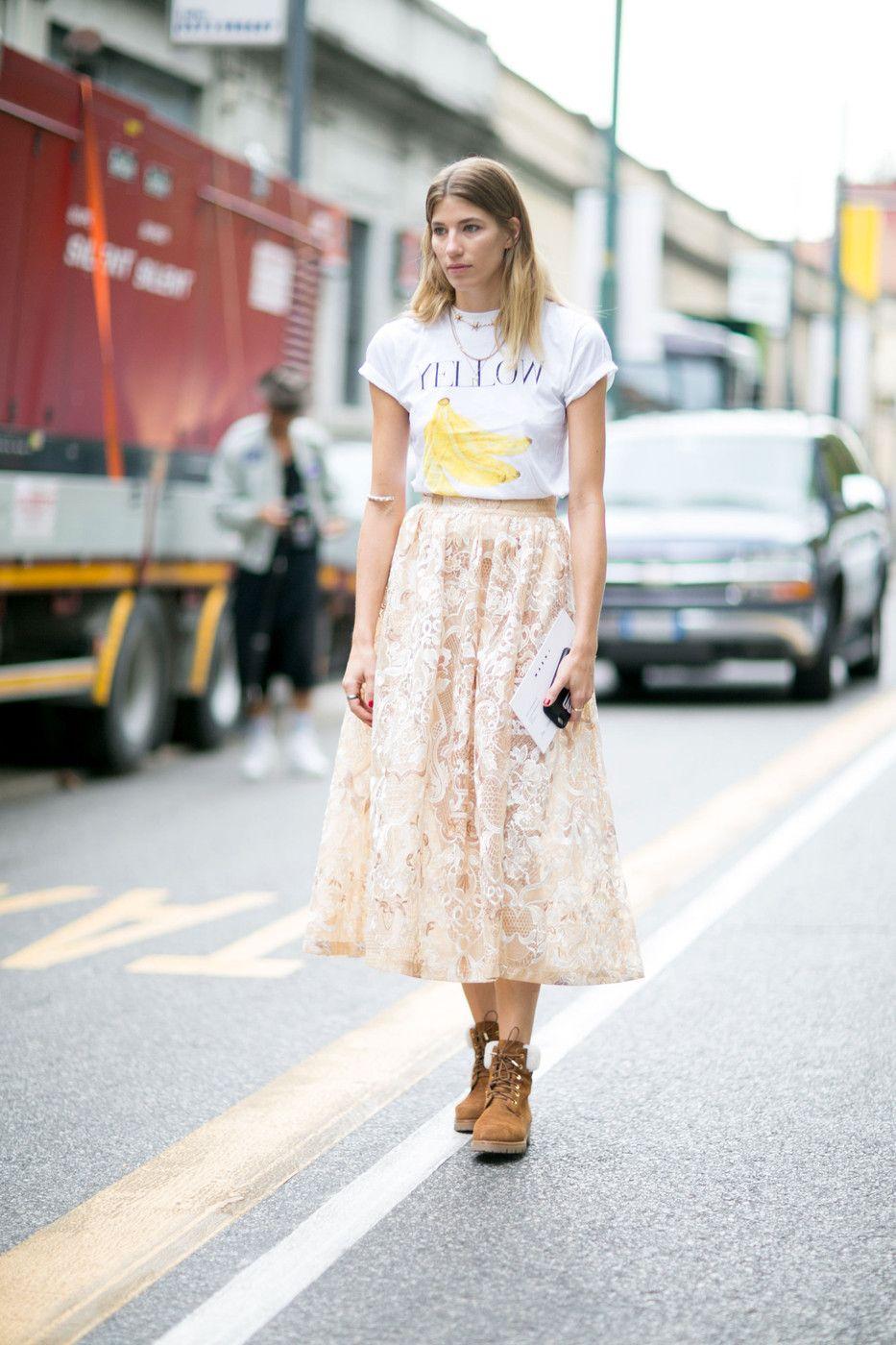 #VeronikaHeilbrunner delicate lace. Milan