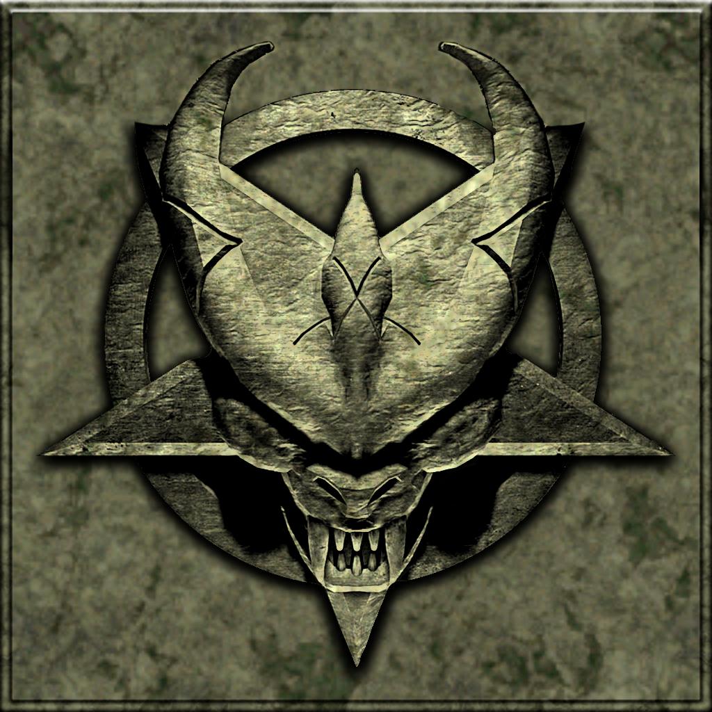 Doom 64 Logo On Stone Wall Doom Merge Images Art
