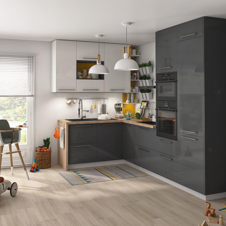 Cuisine Aménagée Leroy Merlin une cuisine familiale pratique et esthétique   idée déco