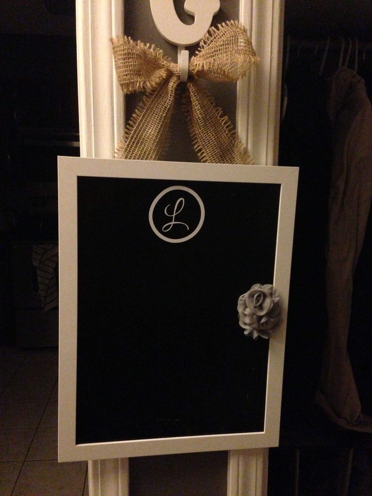 Cheap Ikea Picture Frame Turned Into A Personalized Chalkboard I