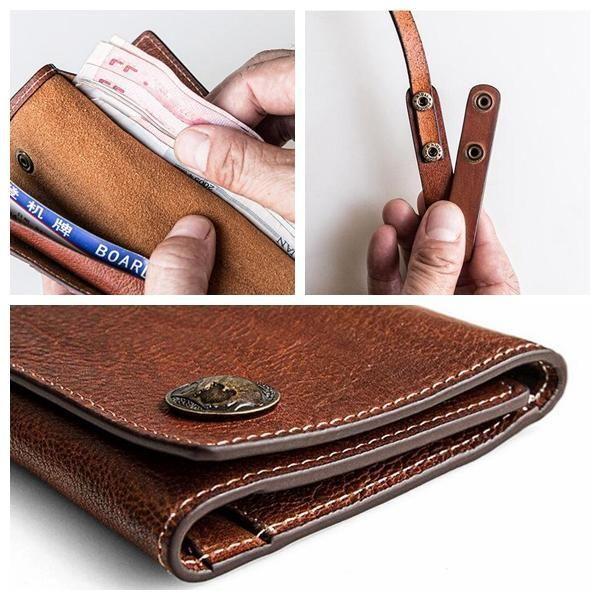 8e46b1a3266 Vintage Top Grain Leather Travel Wallet with Passport Holder Card Holder  Wallet MBL02 - LISABAG