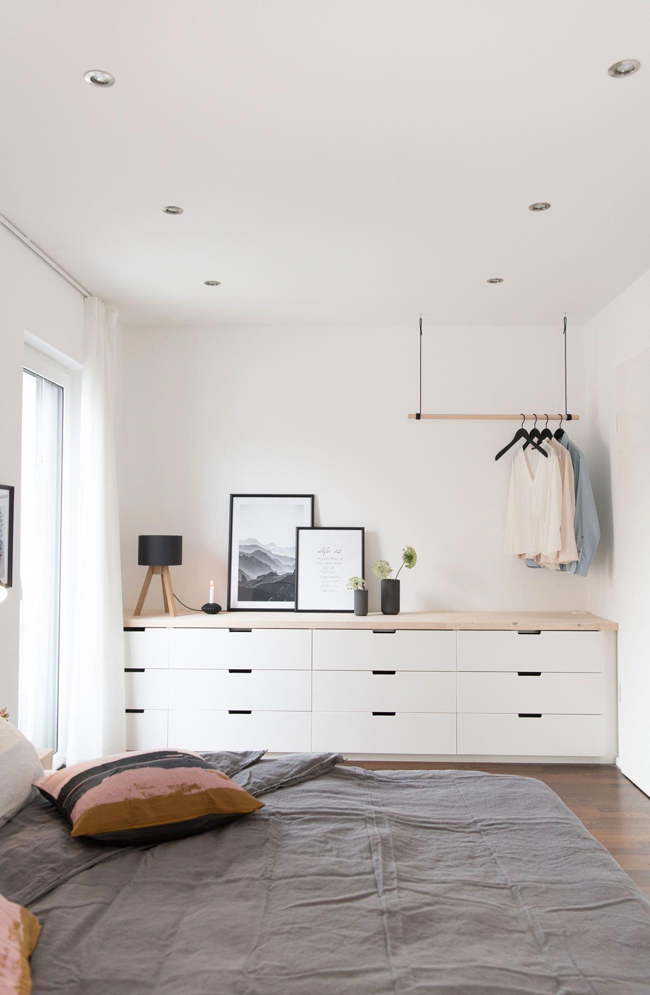 Ikea Nordli Kommode Fur Das Schlafzimmer Mit Neuer Arbeitsplatte In Birke Lasiert Und Blenden Um Die Nordli Kommoden Dazu Ikea Bedroom Bedroom Diy Home Decor