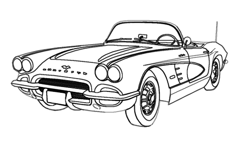 How To Draw Cars Easy Car Drawings Old Classic Cars Classic Cars