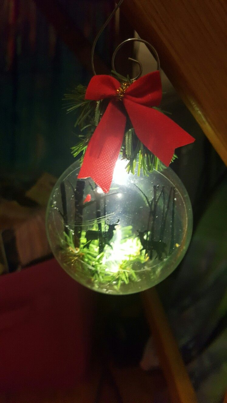 lighted christmas ornament