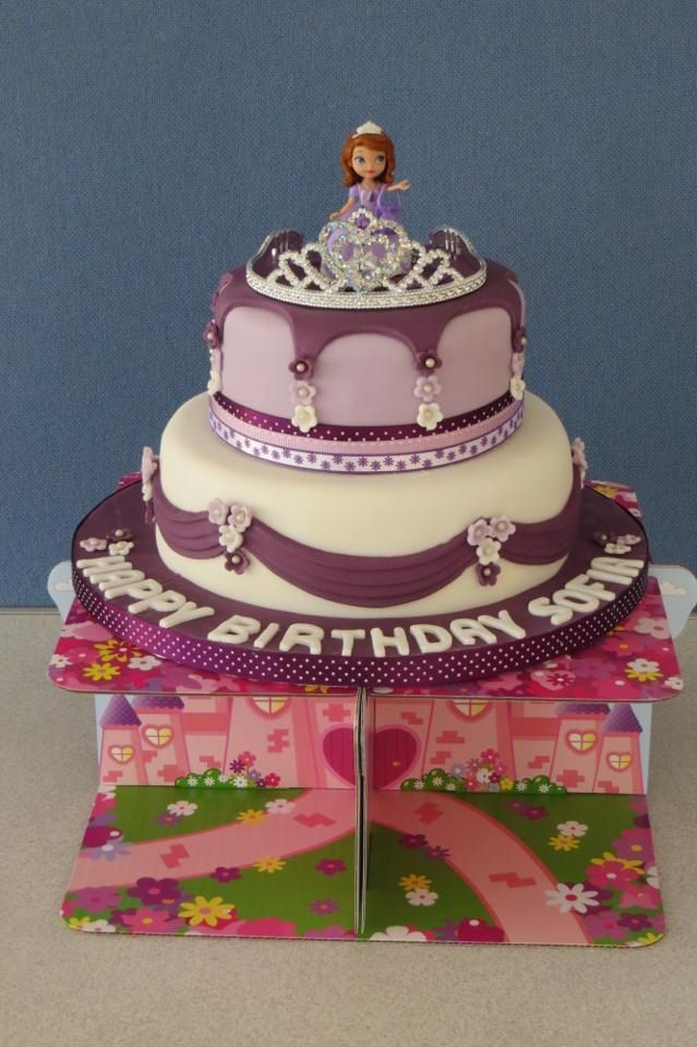 Sofias Actual Birthday Cake Sofia The First Pinterest