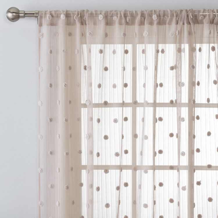 Argos Home Pom Pom Tab Top Voile Curtain Panel Grey Voile Curtains Panel Curtains Argos Home