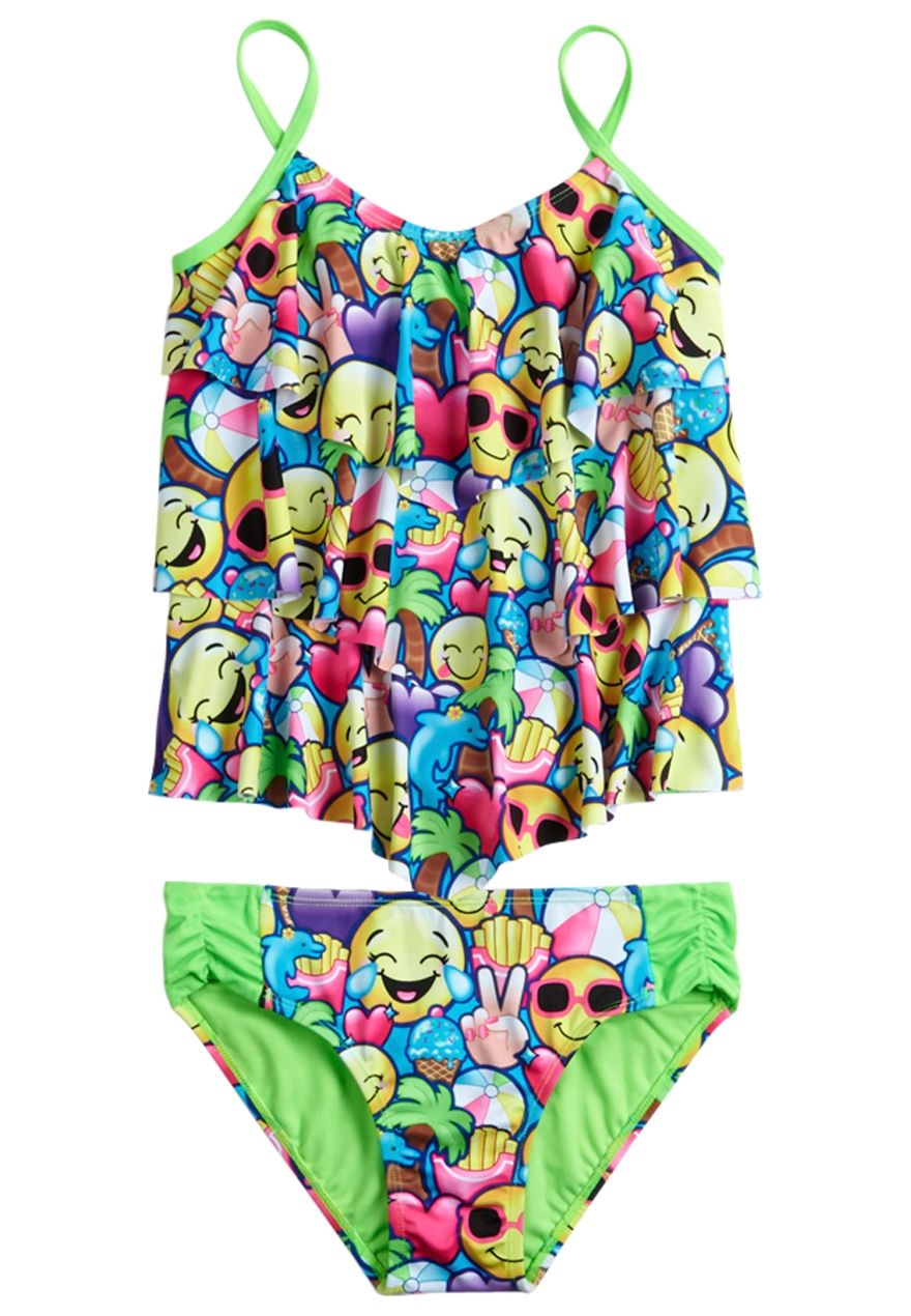 9fd5a297d5056 Emoji Tankini Swimsuit (original price, 32.90) available at #Justice ...