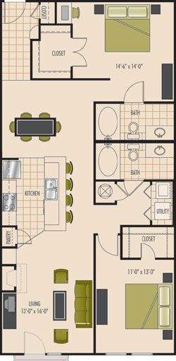 """Kendall"" two bedroom two bath"