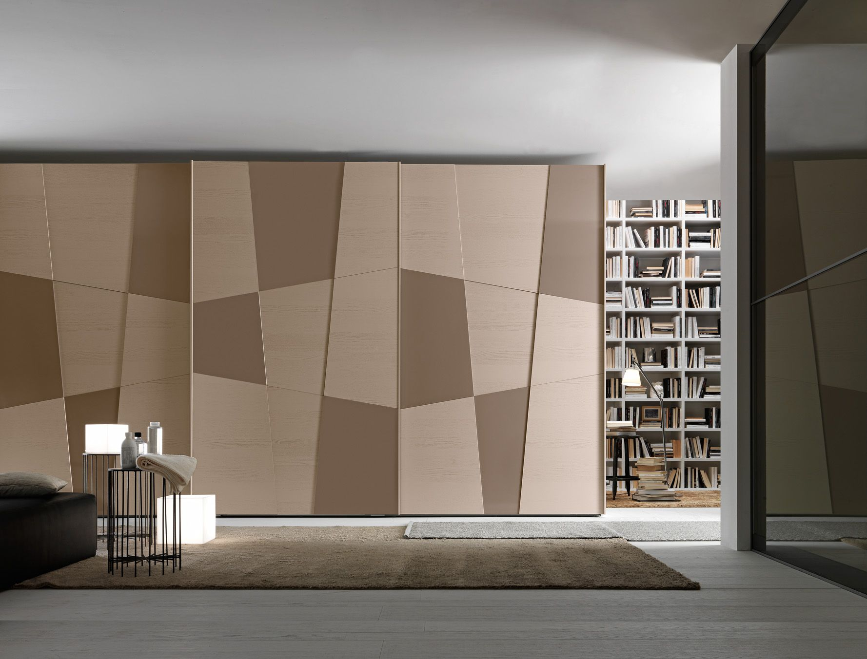 PRESOTTO | #Wardrobe with Shape sliding doors with corda color ...