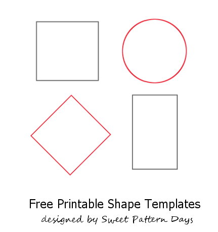 image about Free Printable Shape Templates named Designs Templates in the direction of Print Absolutely free Designs Form templates