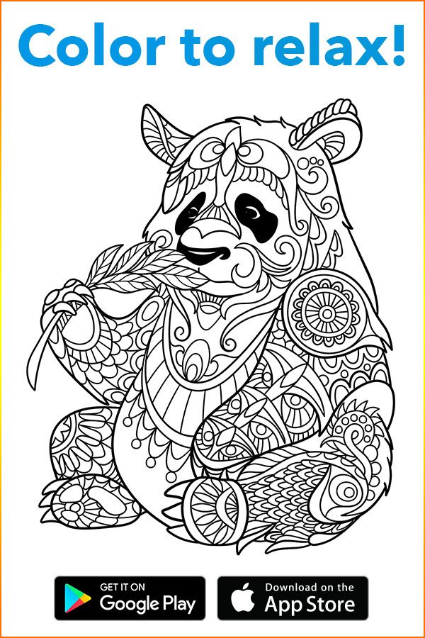 Plunge Into A Fairy World Of Coloring With Coloring Book For Me App A Perfect Tool To Relax While T Panda Coloring Pages Animal Coloring Pages Coloring Pages