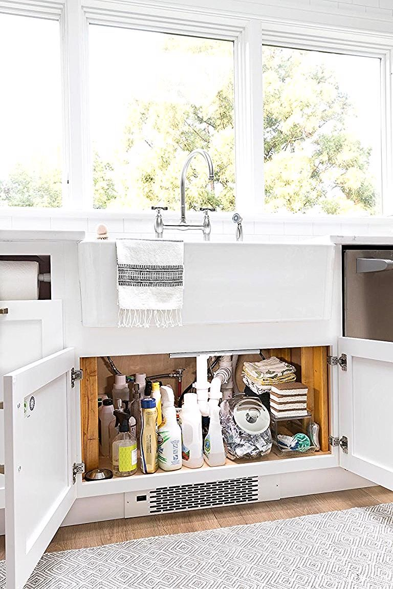 Love This Idea For Lighting Up The Inside Of A Cabinet Install Motion Strip Lighting So When The Doors Of In 2020 Kitchen Cabinet Storage Storage Cabinets New Kitchen