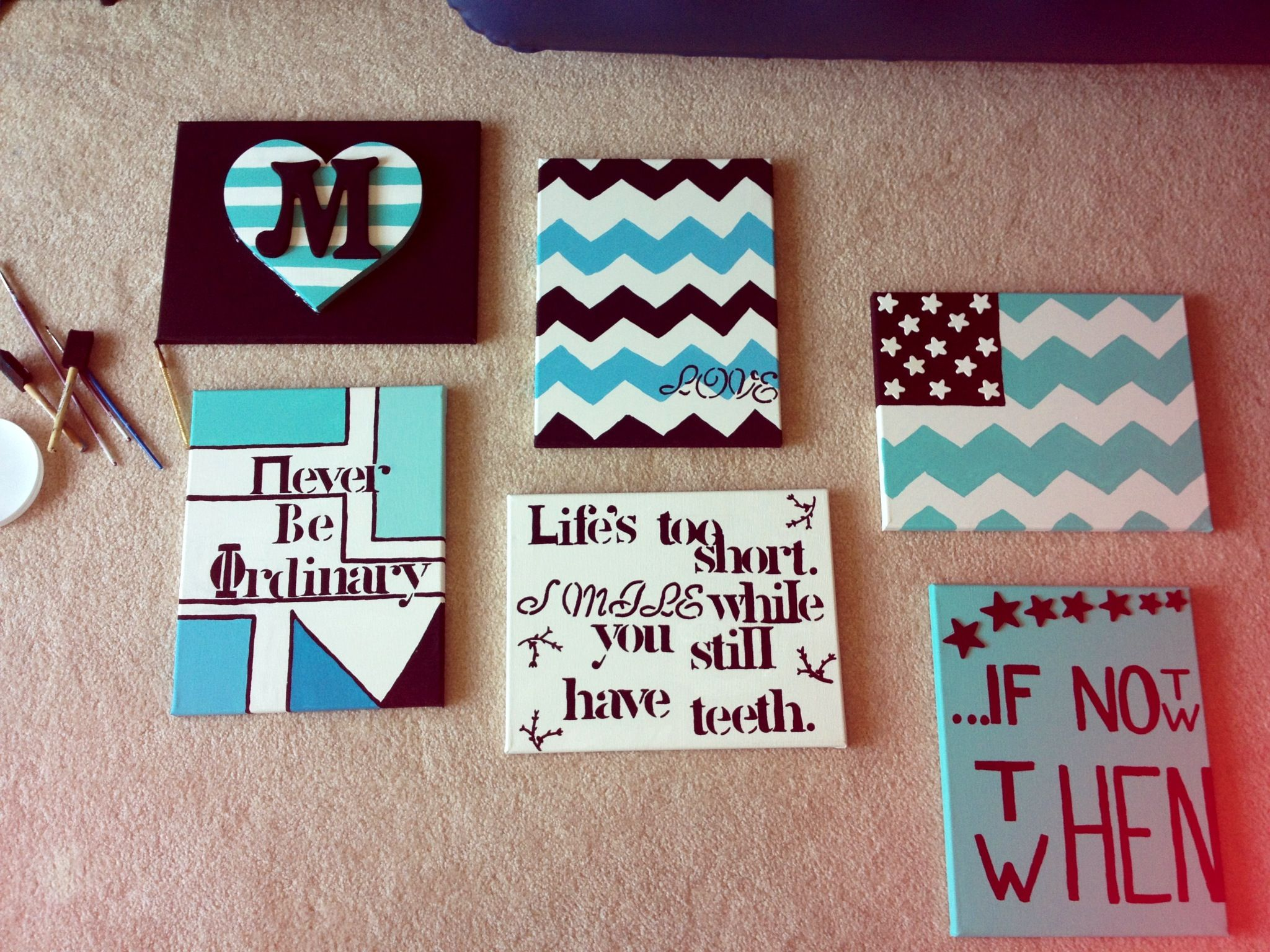 Canvas Wall Art Easy Diy Dorm Idea
