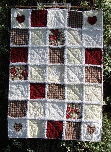 Old Country Rose Cottage Rag Quilt Throw. | Rag Quilts | Pinterest ... : rose cottage quilt shop - Adamdwight.com