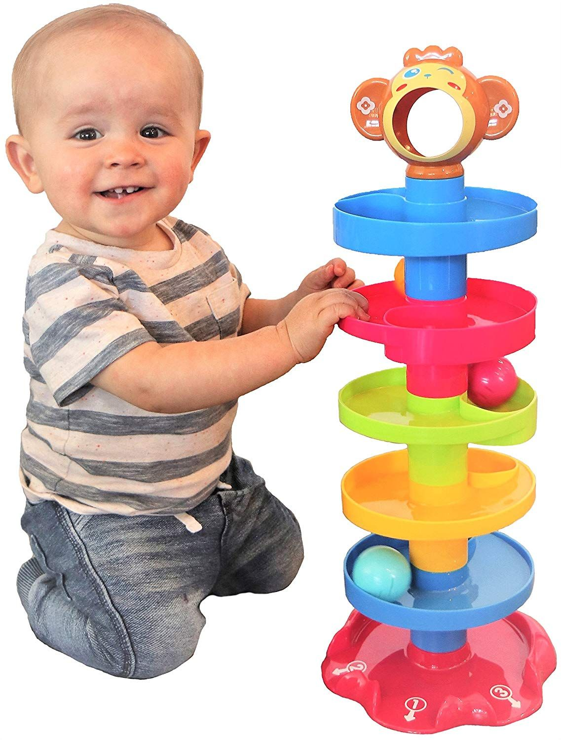 CC O Play Monkey Ball Drop Toy for Babies and Toddlers ...