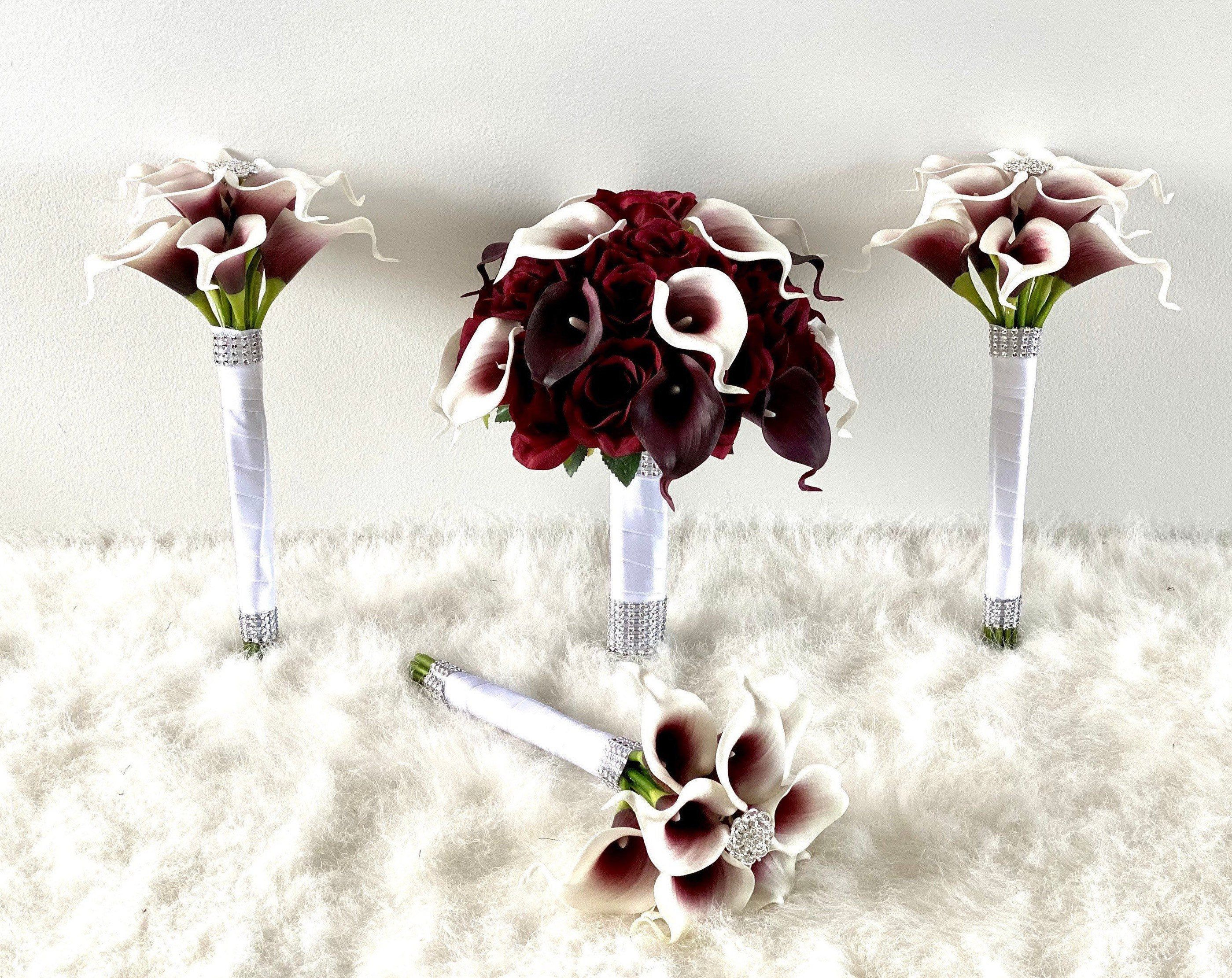 Customize Your Package Burgundy Bouquet Calla Lily Bouquet