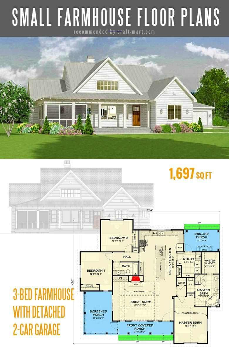 Small Farmhouse Plans For Building A Home Of Your Dreams Craft Mart Smallmodernfarmhouseplans Why More And More People Houten Huizen Architecten Huizen
