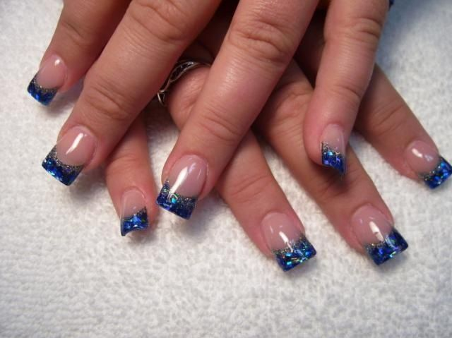 Blue and silver | Nail Art | Pinterest