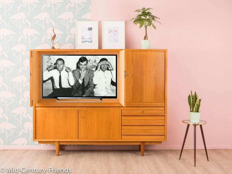 Vintage Schränke - 60er Highboard, Fernsehschrank, Sideboard ...