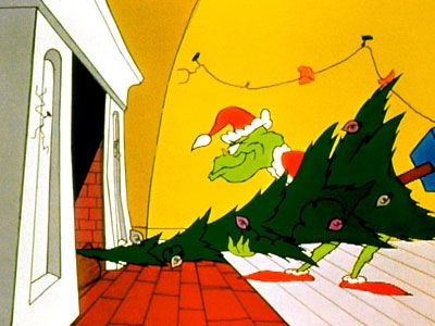 Grinch Stealing The Christmas Tree Christmas Cartoons Christmas Trivia Grinch Christmas