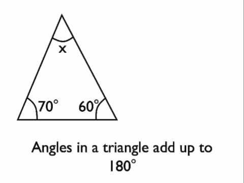 Finding the measure of an interior angle in a triangle