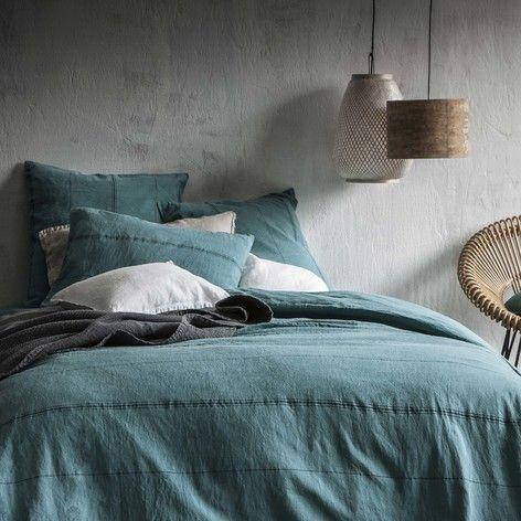 Lin lavé, Métis - Blanc Cerise | Chambre bleu canard | Pinterest ...