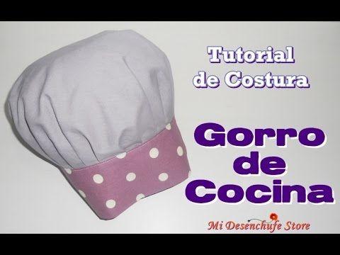 Tutorial 47 como hacer un gorro de cocina how to make - Delantales y gorros de cocina para ninos ...