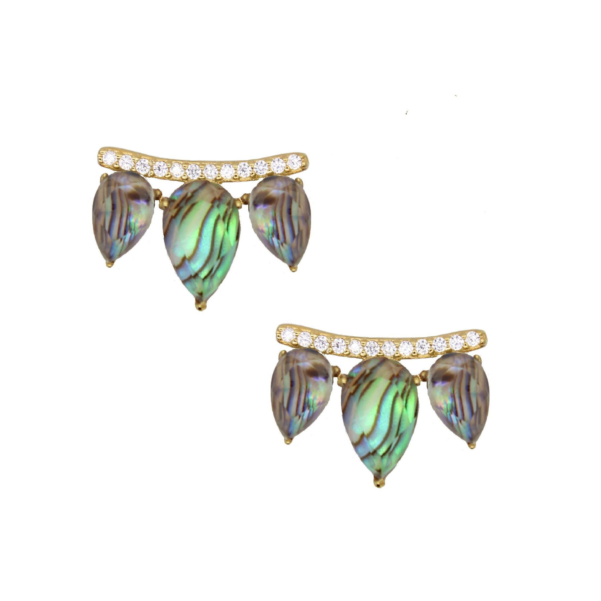 abalone silver ireland jewellery earrings plain semi shell stud precious hanging