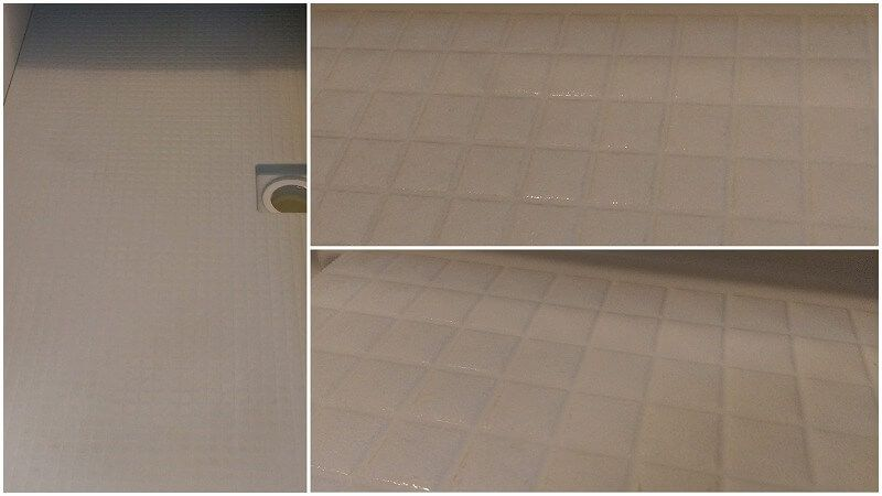 浴室の床をオキシクリーンで掃除 オキシ漬けでどこまできれいになる