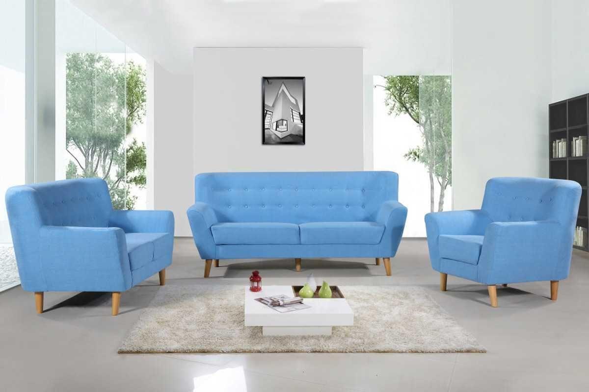 Lichfield Blue Fabric 2 Seater Modern Tub Sofa | Sofas | Pinterest ...