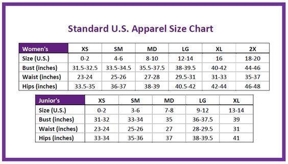 Image Result For Womens Vs Juniors Size Chart Style Clothing