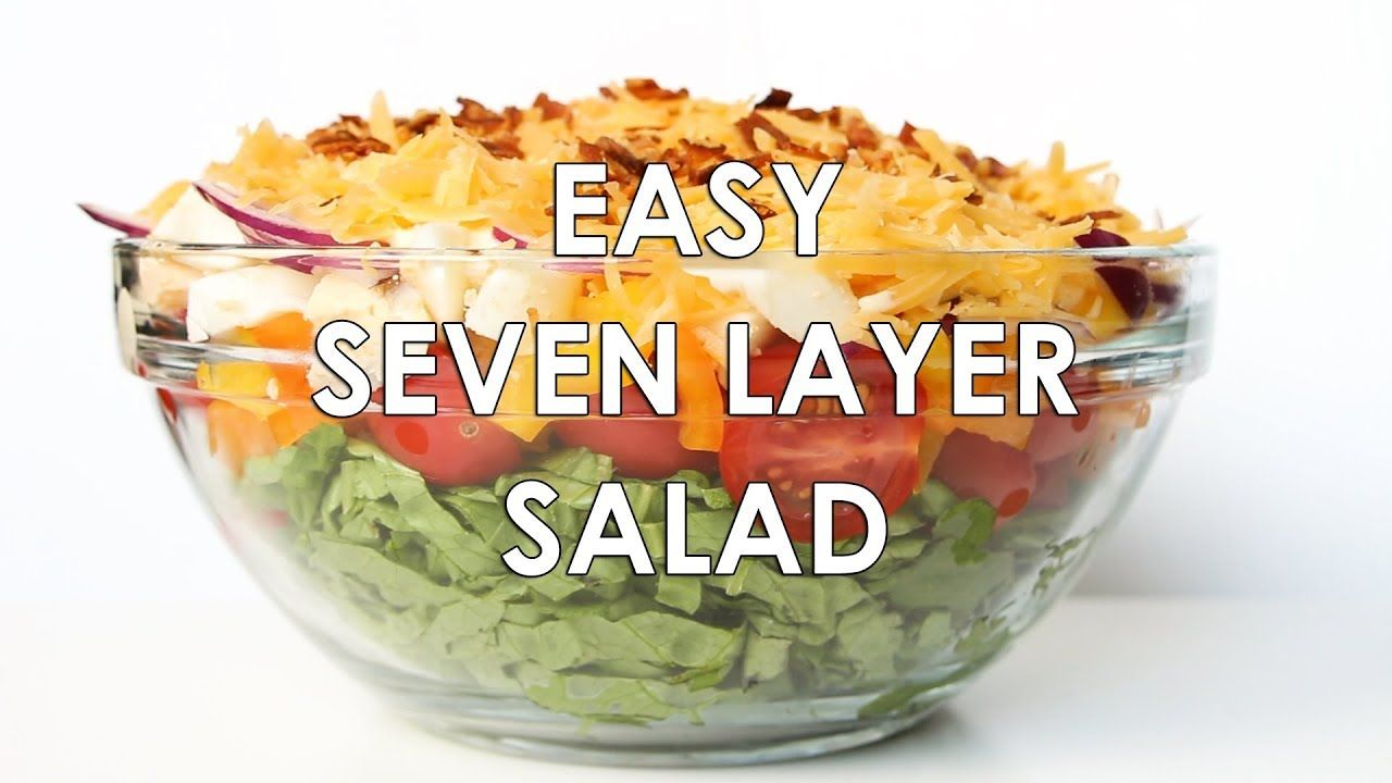 7 Layer Salad Recipe With Mayonnaise Quick Easy 7 Layer Salad Layered Salad Layered Salad Recipes