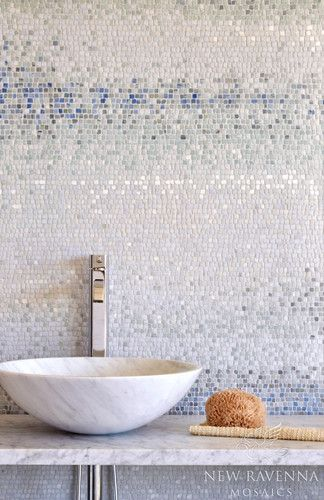 Love this tile wall by New Ravenna Mosaics