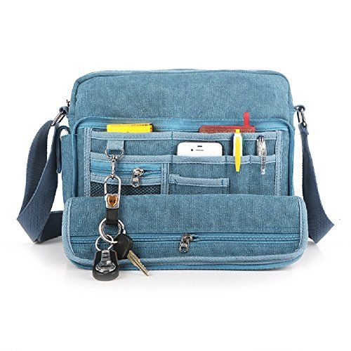 MiCoolker Multifunction Versatile Canvas Bag Handbag Shoulder Bag Leisure  Change Packet Blue MiCoolker http   27f87d382f37d
