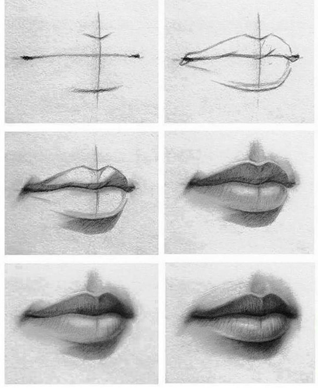 Tutorial Of Drawing Lips Check It Out If You Re Having