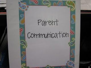 Had this idea for parent contact.  And she already has it done for me!  Haha.  So cool!