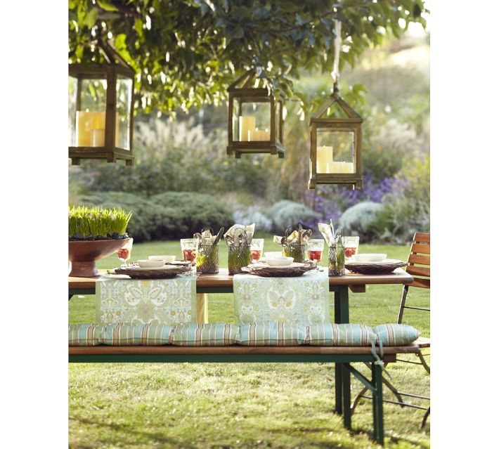 The Perfect Backdrop For An Early Evening Picnic In The Garden. Hanging  CandlesCandle LanternsDining Table ...