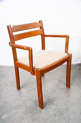 Danish Modern Dining Chair Cover Hire Greenock Chairs Teak Dyrlund Set 6 Arm Mid Century Denmark