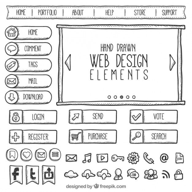Download Doodles Web Element Collection For Free
