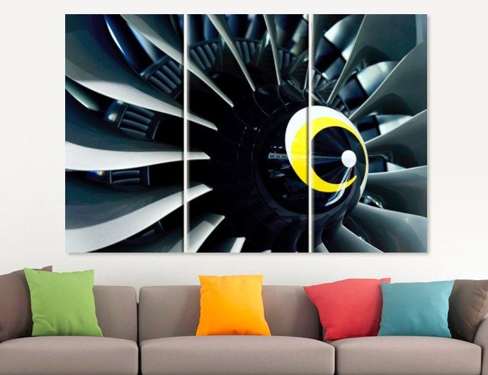 Charmant Plane Turbine Canvas Print Aircraft Canvas Art Aviation Canvas Art Office  Decor Turbine Poster Airplane Office