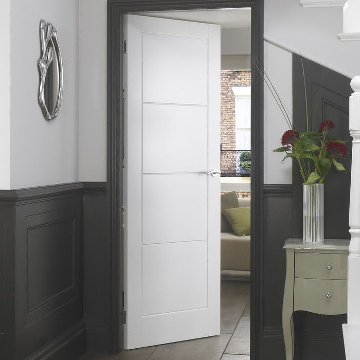 Premdor Ladder Moulded 4 Panel White Smooth Internal Door Reviews