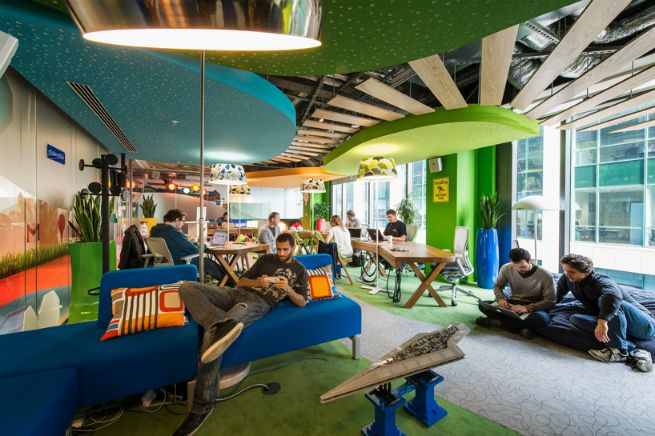 google office amenities. collaborative workspace design examples google search office amenities l