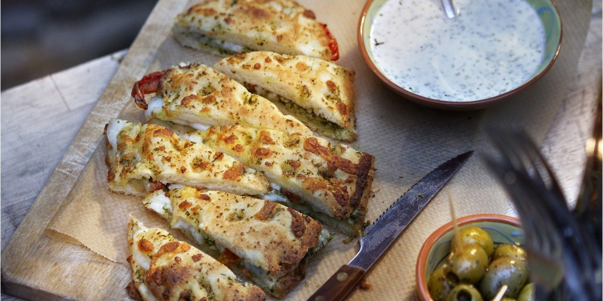 Boodschappen - Focaccia met mozzarella