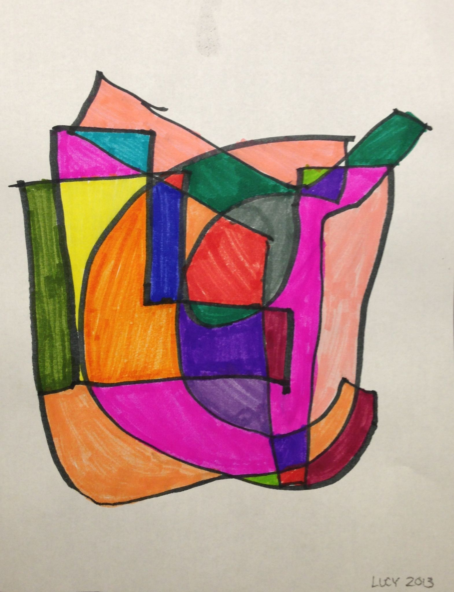 Lucy 3rd Grade Geometric Art 2013 Art Projects Geometric