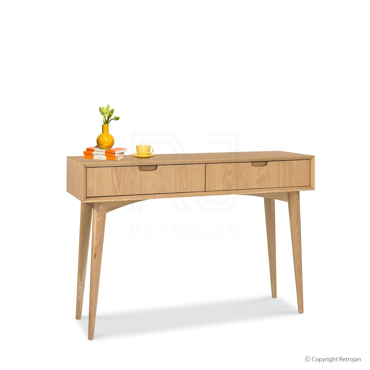 Buy Mia Console Table With Drawers Oak Online Rj Living Oak Console Table Console Table Scandi Dressing Table