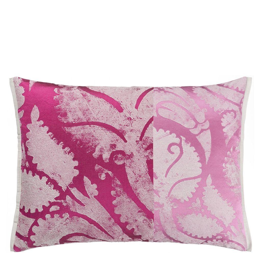 Majella Fuchsia Decorative Pillow Designer Throw Pillows Pink